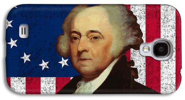 John Adams And The American Flag Galaxy S4 Case by War Is Hell Store