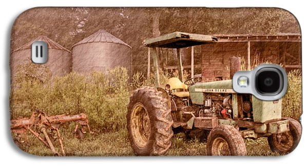 Old House Photographs Galaxy S4 Cases - John Deere Antique Galaxy S4 Case by Debra and Dave Vanderlaan