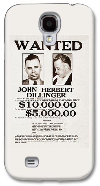 John Dillinger Wanted Poster Galaxy S4 Case by War Is Hell Store