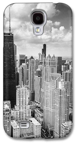 John Hancock Building In The Gold Coast Black And White Galaxy S4 Case by Adam Romanowicz