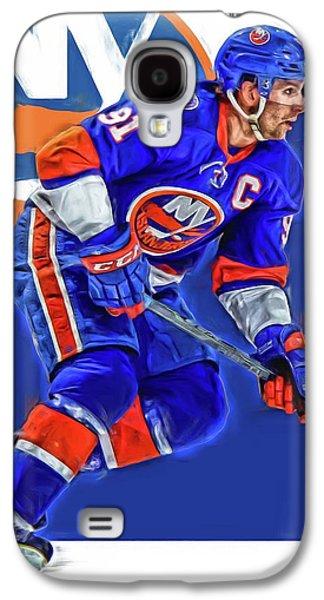 John Tavares New York Islanders Oil Art Series 1 Galaxy S4 Case by Joe Hamilton