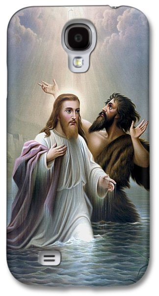 John The Baptist Baptizes Jesus Christ Galaxy S4 Case by War Is Hell Store