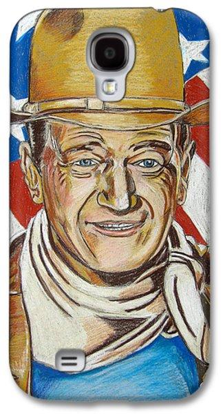 John Wayne Drawings Galaxy S4 Cases - John Wayne 2 Galaxy S4 Case by John Keaton