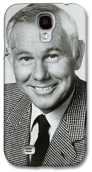 Johnny Carson Autographed Print Galaxy S4 Case