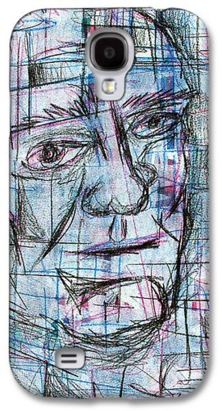 Character Portraits Mixed Media Galaxy S4 Cases - Johnny Cash Galaxy S4 Case by Jera Sky