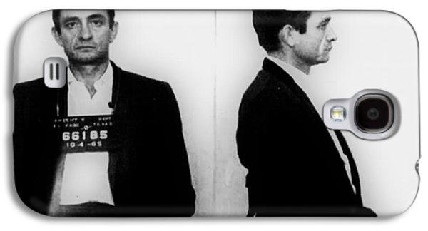 Johnny Cash Mug Shot Horizontal Galaxy S4 Case