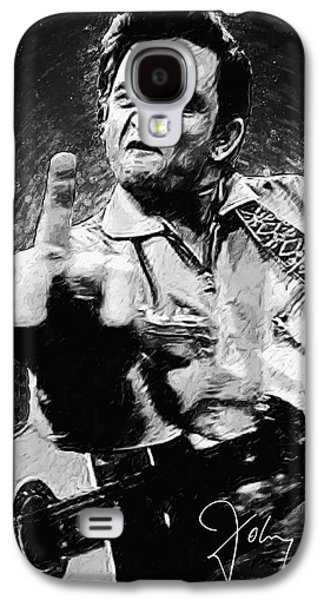 Rock And Roll Galaxy S4 Case - Johnny Cash by Zapista