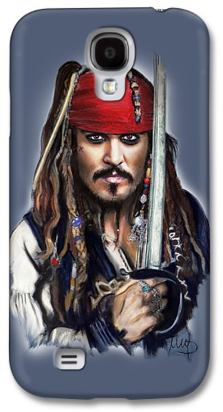 Johnny Depp As Jack Sparrow Galaxy S4 Case by Melanie D