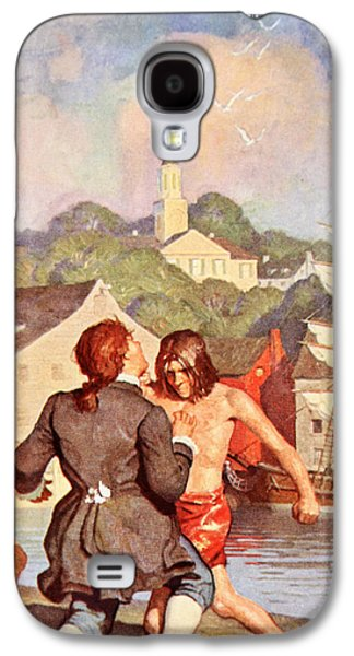 Johnny's Fight With Cherry Galaxy S4 Case by Newell Convers Wyeth