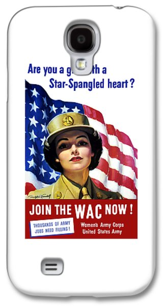 Join The Wac Now - World War Two Galaxy S4 Case by War Is Hell Store