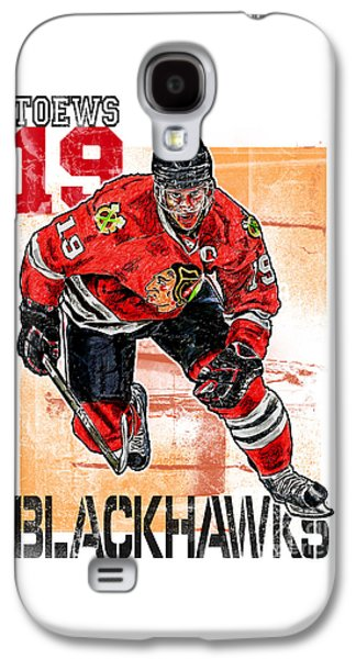 Jonathan Toews Galaxy S4 Case by Maria Arango
