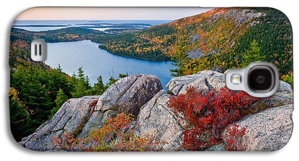 Jordan Pond Sunrise  Galaxy S4 Case by Susan Cole Kelly