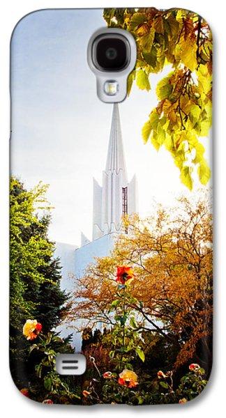 Jordan Photographs Galaxy S4 Cases - Jordan River Temple Rose Galaxy S4 Case by La Rae  Roberts