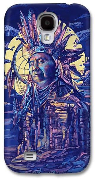 Joseph Nez Perce Decorative Portrait 2 Galaxy S4 Case by Bekim Art