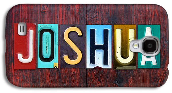 Joshua License Plate Lettering Name Sign Art Galaxy S4 Case by Design Turnpike