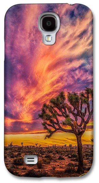 Joshua Tree In The Glowing Swirls Galaxy S4 Case