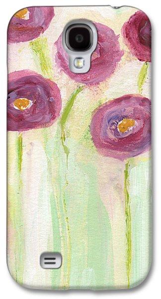 Joyful Poppies- Abstract Floral Art Galaxy S4 Case