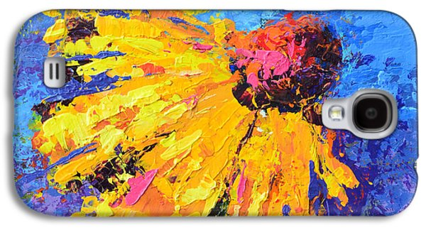 Joyful Reminder Modern Impressionist Floral Still Life Palette Knife Work Galaxy S4 Case by Patricia Awapara