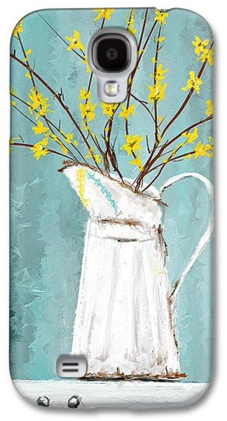 Joys Of Bloom - Forsythia Art Galaxy S4 Case by Lourry Legarde