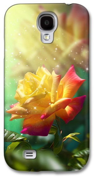 Twinkle Galaxy S4 Cases - Juicy Rose Galaxy S4 Case by Svetlana Sewell