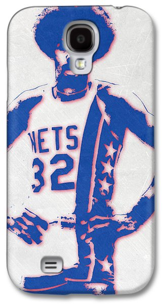 Julius Erving New York Nets Pixel Art Galaxy S4 Case