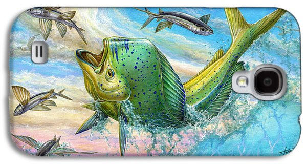 Jumping Mahi Mahi And Flyingfish Galaxy S4 Case