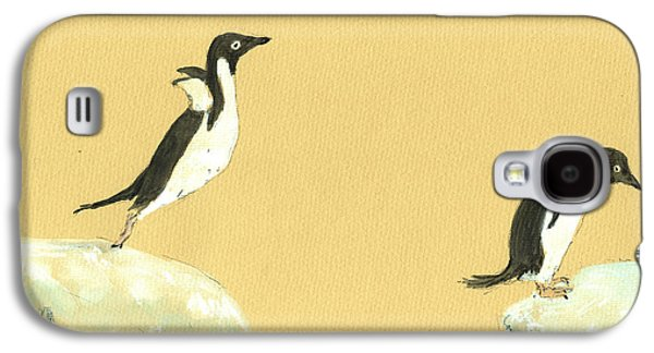 Jumping Penguins Galaxy S4 Case by Juan  Bosco