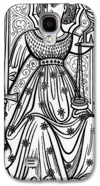 Justice Tarot Card Galaxy S4 Case