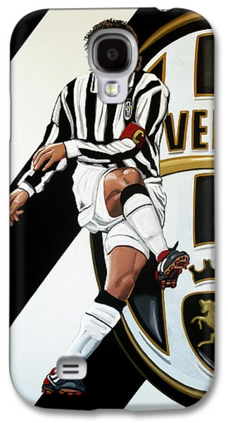 Juventus Fc Turin Painting Galaxy S4 Case by Paul Meijering