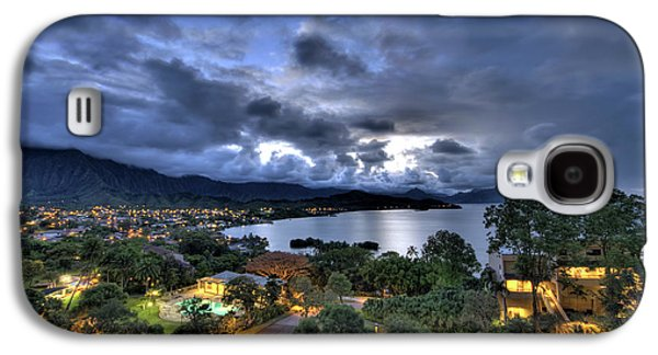 Kaneohe Bay Night Hdr Galaxy S4 Case by Dan McManus