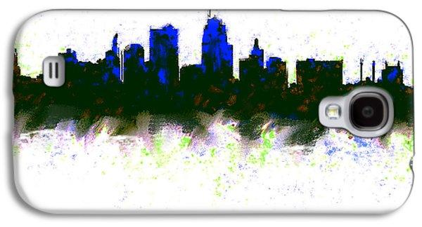 Kansas City Skyline Blue  Galaxy S4 Case