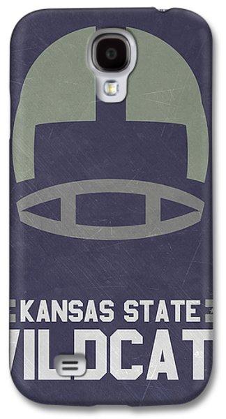 Kansas State Wildcats Vintage Football Art Galaxy S4 Case by Joe Hamilton