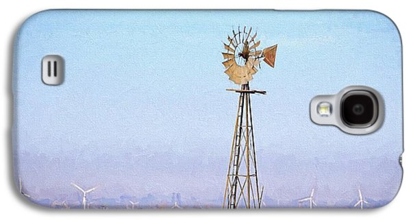 Galaxy S4 Case featuring the digital art Kansas Windmills by JC Findley