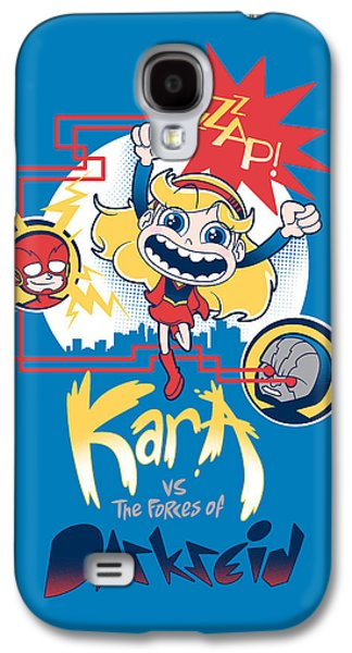 Kara Vs The Forces Of Darkseid Galaxy S4 Case by Little Black Heart