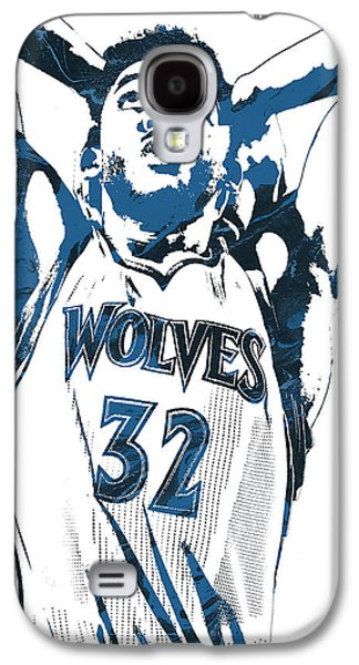 Karl Anthony Towns Minnesota Timberwolves Pixel Art Galaxy S4 Case