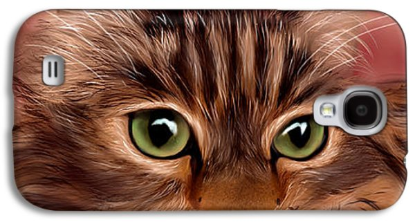 Katie- Custom Cat Portrait Galaxy S4 Case