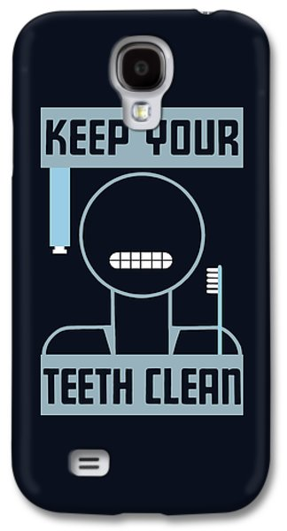 Keep Your Teeth Clean - Wpa Galaxy S4 Case by War Is Hell Store