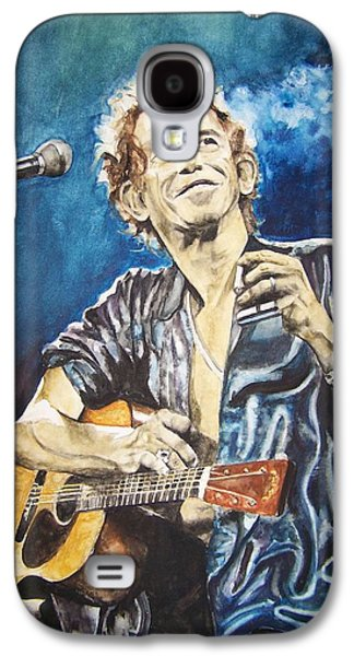 Keith Richards Paintings Galaxy S4 Cases - Keith Richards Galaxy S4 Case by Lance Gebhardt