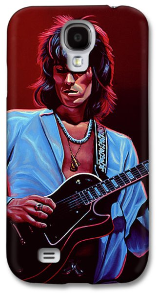 Musicians Galaxy S4 Case - Keith Richards The Riffmaster by Paul Meijering