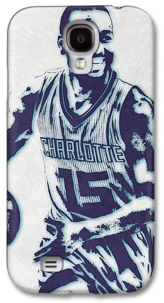 Kemba Walker Charlotte Hornets Pixel Art 2 Galaxy S4 Case by Joe Hamilton