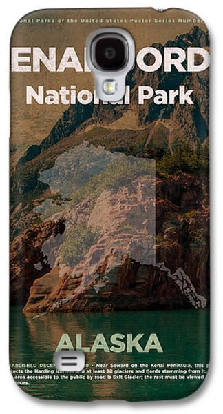 Kenai Fjords National Park In Alaska Travel Poster Series Of National Parks Number 35 Galaxy S4 Case by Design Turnpike