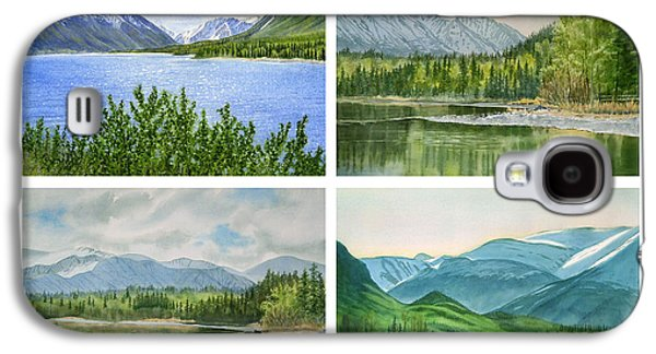 Kenai Lake Alaska Poster With Title Galaxy S4 Case by Sharon Freeman