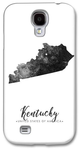 Kentucky State Map Art - Grunge Silhouette Galaxy S4 Case