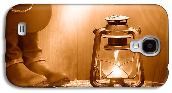 Kerosene Lamp At The Ranch - Sepia Galaxy S4 Case by Olivier Le Queinec
