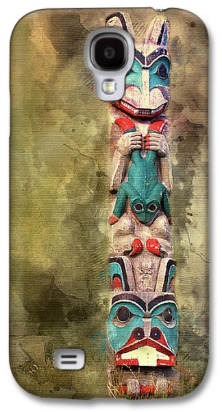 Ketchikan Alaska Totem Pole Galaxy S4 Case by Bellesouth Studio