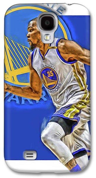 Kevin Durant Golden State Warriors Oil Art Galaxy S4 Case by Joe Hamilton