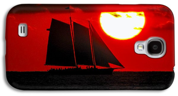 Key West Sunset Sail Silhouette Galaxy S4 Case