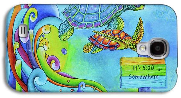 Key West Turtles Play Galaxy S4 Case