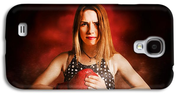 Kickboxing Gym Girl In Boxing Fitness Competition  Galaxy S4 Case