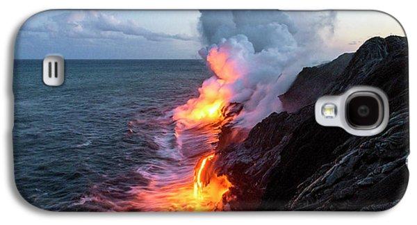 Travel Galaxy S4 Case - Kilauea Volcano Lava Flow Sea Entry 3- The Big Island Hawaii by Brian Harig